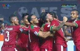 VIDEO: Hansamu Yana đánh đầu ghi bàn đưa Indonesia dẫn trước Thái Lan