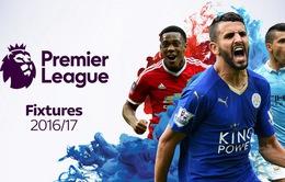 Lịch tường thuật trực tiếp bóng đá trên VTVcab cuối năm 2016, đầu năm 2017