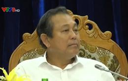 Phó Thủ tướng Trương Hòa Bình làm việc tại Quảng Nam
