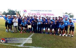 PVF giành quyền tham dự giải hạng Nhất 2017 sau loạt penalty may rủi