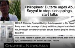 Tổng thống Philippines hối thúc nhóm Abu Sayyaf dừng chiến dịch cướp biển
