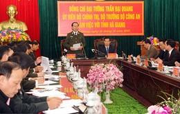 Bộ trưởng Trần Đại Quang thăm, làm việc tại Hà Giang