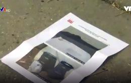 Bé gái 2 tuổi bị phạt 75 USD vì vứt rác ra đường