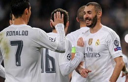 Ronaldo và Benzema hoàn toàn sung mãn dự trận Man City
