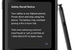 Samsung cập nhật phần mềm cảnh báo người dùng Galaxy Note7