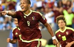 VIDEO Uruguay 0-1 Venezuela: ƯCV vô địch bị loại bởi cú sút từ giữa sân