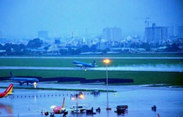 Sân bay Tân Sơn Nhất có thể tiếp tục ngập khi mưa lớn
