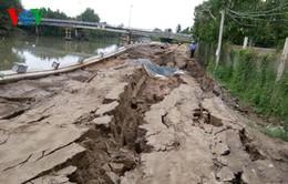 Gia tăng tình trạng sạt lở bờ sông Bảo Định (Tiền Giang)