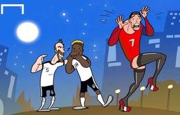 """Biếm hoạ EURO 2016: """"Chị"""" Ronaldo tội nghiệp và mánh khoé của Modric"""
