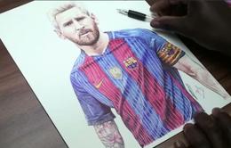 Không thể tin được đây chỉ là bức tranh vẽ Lionel Messi