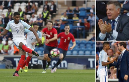 Rashford ra mắt U21 Anh bằng hattrick, Big Sam cười tít mắt