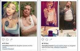 Ngưỡng mộ ông bố Mỹ chụp ảnh selfie giống con để thể hiện tình yêu