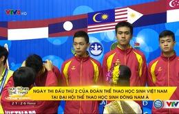 Đoàn thể thao học sinh Việt Nam giành 4 HCV trong ngày thi đấu thứ 2