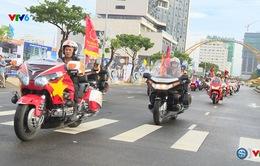 Đoàn xe mô tô - những người bạn đồng hành của các cua rơ