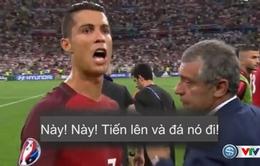Ronaldo chứng tỏ vai trò thủ lĩnh trong loạt sút luân lưu, thúc giục đồng đội giúp BĐN vào bán kết