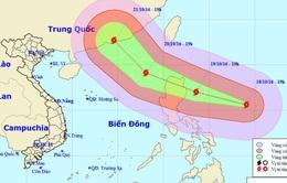 Siêu bão ở Biển Đông hướng về Philippines