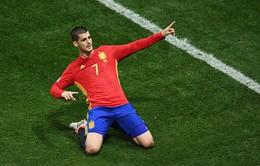 Morata nổ súng đều đặn mỗi trận trong màu áo ĐT Tây Ban Nha