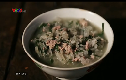 Canh loóng: Món ngon từ cây chuối rừng của người Mường