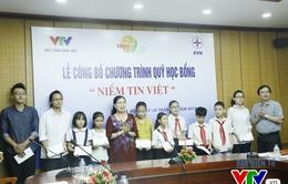 Quỹ Tấm lòng Việt ra mắt chương trình học bổng Niềm tin Việt