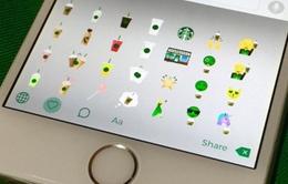 """Starbucks trình làng bàn phím emoji """"độc"""" trên iOS và Android"""