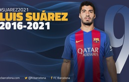 Barcelona gia hạn hợp đồng với Suarez, tiếp tục chờ Messi