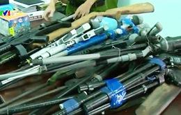 Thu giữ 25 khẩu súng và hàng trăm viên đạn tại Hà Tĩnh