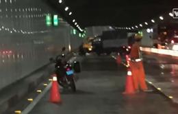 Làm vệ sinh trong hầm Thủ Thiêm, 5 người bị xe tông thương vong