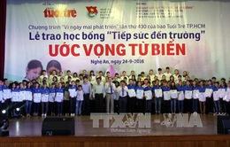 Tặng học bổng cho tân sinh viên vượt khó khu vực Bắc Trung Bộ