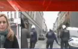 Nữ phóng viên bị tấn công khi ghi hình trực tiếp từ Molenbeek