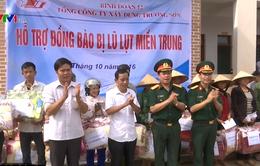 Binh đoàn 12 tặng quà cứu trợ cho đồng bào Hà Tĩnh, Quảng Bình