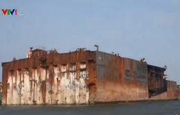 Phát hiện vụ tháo dỡ tàu biển không phép tại Tiền Giang