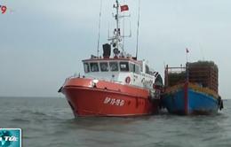 Cứu 9 thuyền viên gặp nạn trên biển Vũng Tàu