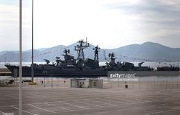 Tàu khu trục của Nga cập cảng Hy Lạp