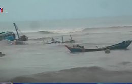 Bình Thuận: Trục vớt thành công 4 tàu cá bị chìm