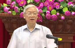 Tổng Bí Thư làm việc về giải pháp chống hạn, mặn tại Tiền Giang