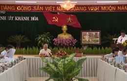 Tổng Bí thư làm việc với Ban Thường vụ Tỉnh ủy và cán bộ chủ chốt tỉnh Khánh Hòa