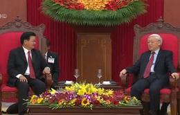 Tổng Bí thư tiếp Thủ tướng Lào