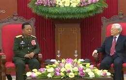 Tổng Bí thư tiếp Bộ trưởng Quốc phòng Lào