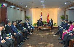 Tổng Bí thư tiếp thân mật Chủ tịch Hội Hữu nghị Lào - Việt Nam