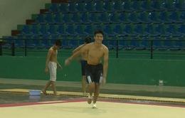 Đội thể dục dụng cụ nam TP Hồ Chí Minh chuẩn bị cho giải VĐQG