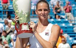 Dễ dàng vượt qua Kerber, Pliskova đăng quang Cincinnati mở rộng 2016