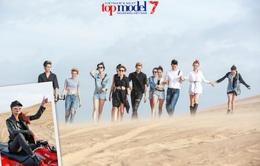 """Thanh Hằng """"nổi loạn"""" cùng top 11 Vietnam's Next Top Model 2016 giữa đồi cát"""