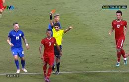 VIDEO Tình huống Lestaluhu nhận thẻ đỏ trực tiếp