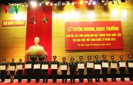 Bộ Quốc phòng tuyên dương HLV, VĐV tiêu biểu năm 2015