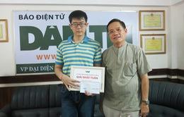 Đà Nẵng: Thí sinh Olympia trao giải thưởng giúp hai chị em chăm mẹ liệt tứ chi