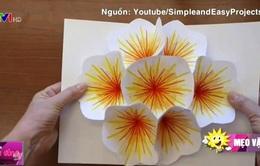 Làm thiệp hoa 3D tưởng khó mà dễ