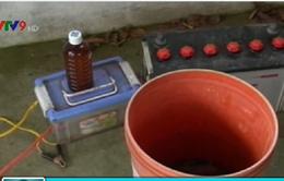 Bắt đối tượng dùng thuốc trừ sâu khai thác thủy sản tại Bến Tre