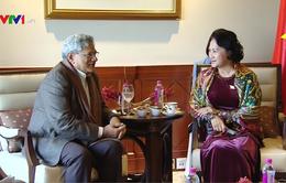Chủ tịch Quốc hội tiếp Tổng Bí thư Đảng Cộng sản Ấn Độ Mác xít