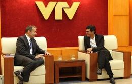 Tổng Giám đốc Đài THVN tiếp xã giao Nguyên Đại sứ Pháp tại Việt Nam