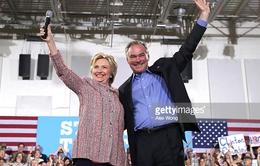 Bà  Hillary Clinton công bố ứng viên Phó Tổng thống